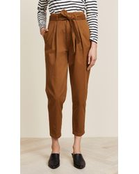 Free People - High Waist Pegged '90s Trousers - Lyst