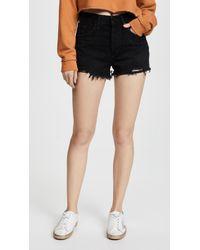 Agolde - Parker Vintage Loose Fit Cut Off Shorts - Lyst