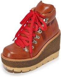 Jeffrey Campbell - Explore Wedge Hiking Booties - Lyst