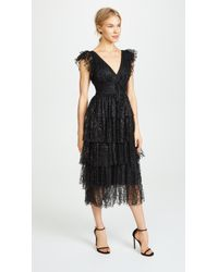 Marchesa notte - Flutter Sleeve Cocktail Dress - Lyst