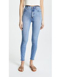 Nobody Denim - The Siren Super High Rise Skinny Jeans - Lyst