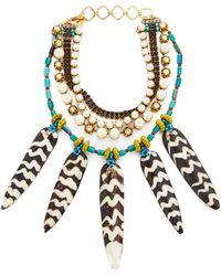 Erickson Beamon - Imitation Pearl Safari Necklace - Lyst