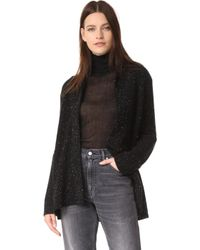 Baja East - Long Sleeve Cardigan - Lyst