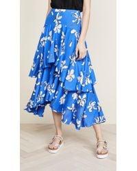 Isa Arfen - Printed Ruffle Skirt - Lyst