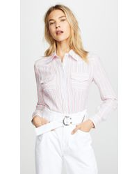 MILLY - Striped Western Shirt - Lyst