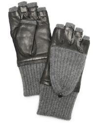 Carolina Amato - Leather & Cashmere Gloves - Lyst