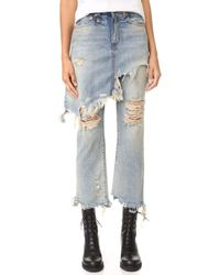 R13 - Double Classic Skirted Jeans - Lyst
