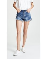 One Teaspoon - Oxford Outlaws Mid Length Denim Shorts - Lyst