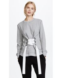 10 Crosby Derek Lam - Sweatshirt With Lacing Detail - Lyst