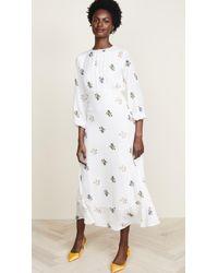 Cynthia Rowley - Sea Breeze Printed Bell Sleeve Dress - Lyst