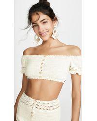 She Made Me - Inika Crochet Bikini Top - Lyst