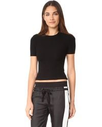 Getting Back to Square One - The Short Sleeve Crop Crew Tee - Lyst