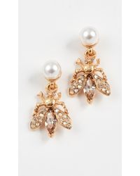 Oscar de la Renta - Bug Button Earrings - Lyst