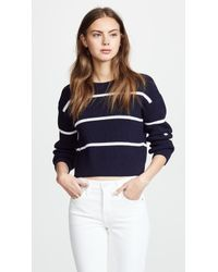 Vince - Racked Rib Stripe Sweater - Lyst