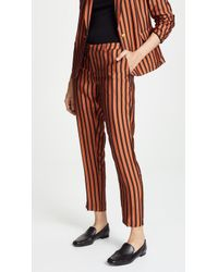 Scotch & Soda - Striped Tailored Pants - Lyst