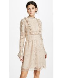 Anna Sui - Cupid's Clouds & Scallop Lace Dress - Lyst