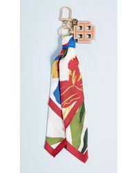 Tory Burch - Printed Scarf Key Fob - Lyst