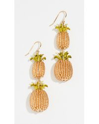Kate Spade - By The Pool Pineapple Double Drop Earrings - Lyst