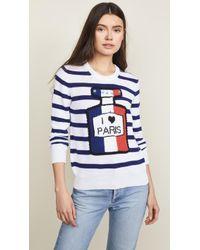 Michaela Buerger - Striped I Love Paris Sweater - Lyst