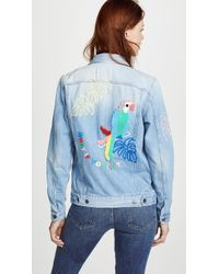 Mira Mikati - Candy Bead Parrot Denim Jacket - Lyst