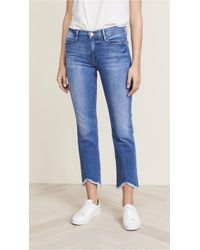 FRAME - Le High Straight Jeans With Triangle Hem - Lyst