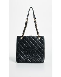 What Goes Around Comes Around - Chanel Pst Tote (previously Owned) - Lyst