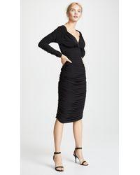 Norma Kamali - Long Sleeve Tara Dress - Lyst