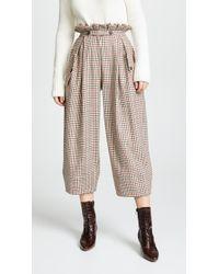 Stella Jean - Plaid Wide Leg Trousers - Lyst