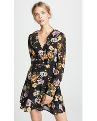 Re:named - Floral Long Sleeve Dress - Lyst