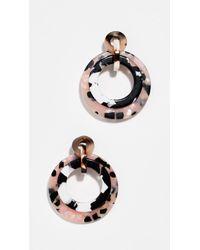 Lele Sadoughi - Mini Banded Hoop Earrings - Lyst