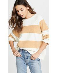 703c951ab96 The Great - Striped Slouchy Sweatshirt - Lyst