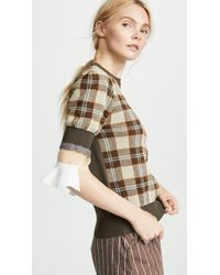 Toga Pulla - Check Knit Top - Lyst