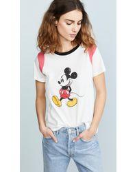 c597dfd6fc2 Lyst - Victoria Beckham Minnie Mouse-print Cotton-jersey T-shirt in ...