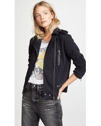 Chaser - Cotton Fleece Moto Jacket - Lyst