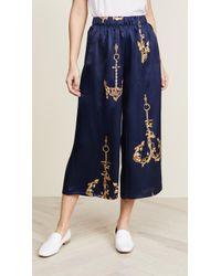 Natasha Zinko - Printed Silk Pyjama Pants - Lyst