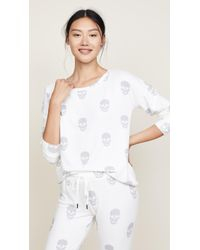 Pj Salvage - Simple Skull Pj Top - Lyst
