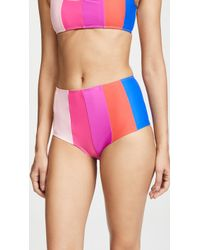 Paper London - Rainbow Stripe Bikini Bottoms - Lyst