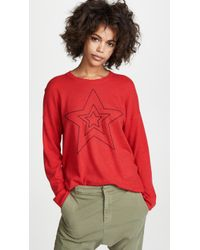 Sundry - Star Outlined Sweater - Lyst