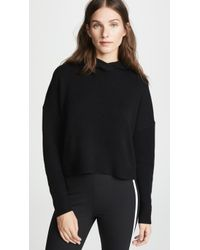 Theory - Cashmere Crop Hoodie - Lyst