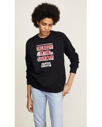 Olympia Le-Tan - The Body In The Library Embroidered Sweatshirt - Lyst