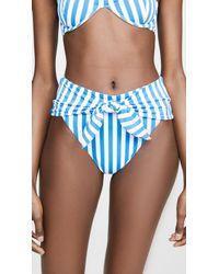 Onia X Weworewhat Riviera Bikini Bottoms - Blue
