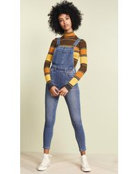 Free People - Slim Ankle Overall - Lyst