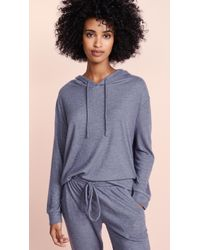 Eberjey - The High-low Hoodie - Lyst