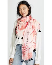 Kate Spade - Flamingo Oblong Scarf - Lyst