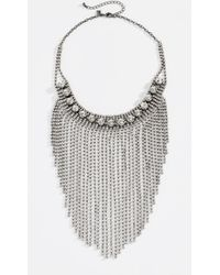Rebecca Minkoff - Cascading Crystal Fringe Necklace - Lyst