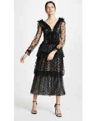Rodarte - Tulle And Sequin Tiered Dress - Lyst