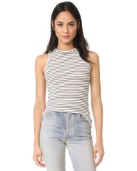 Getting Back to Square One - The Rib Muscle Tee - Lyst
