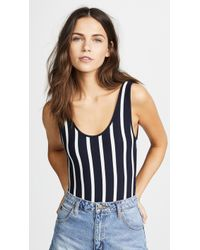 Madewell - Billie Plunging Scoop Back Bodysuit - Lyst