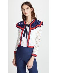 Michaela Buerger - Crochet Tie Front Cardigan - Lyst