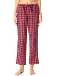 Sleepy Jones | Washed Plaid Marina Pajama Pants | Lyst